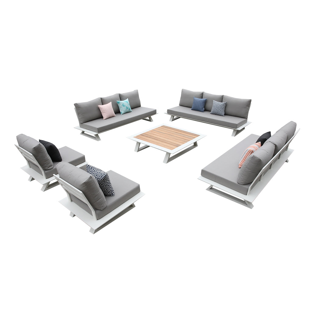 Luxe Corner Sofa Set For 11 With Coffee Table