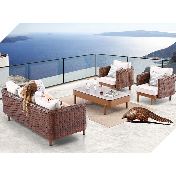 Manis Sofa Set With Coffee Table