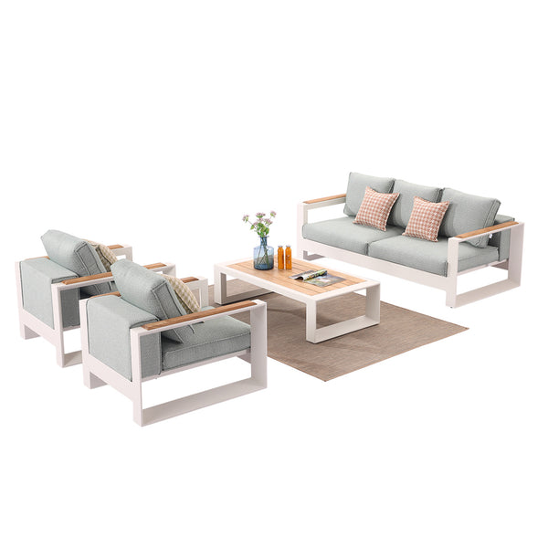 Burano Sofa Set For 5 With 2 Club Chair and Coffee Table
