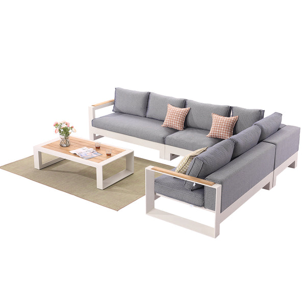 Burano Sectional Set With Coffee Table