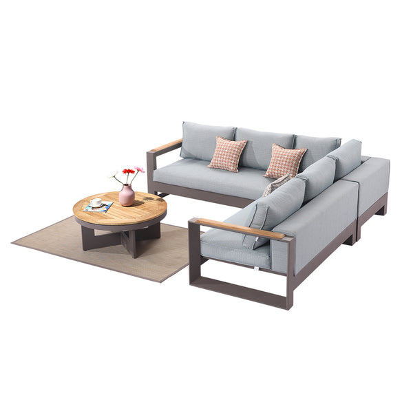 Burano Sectional Set With Round Coffee Table