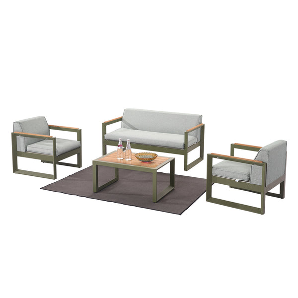 Burano Sofa Set For 4 With 2 Club Chair and Coffee Table