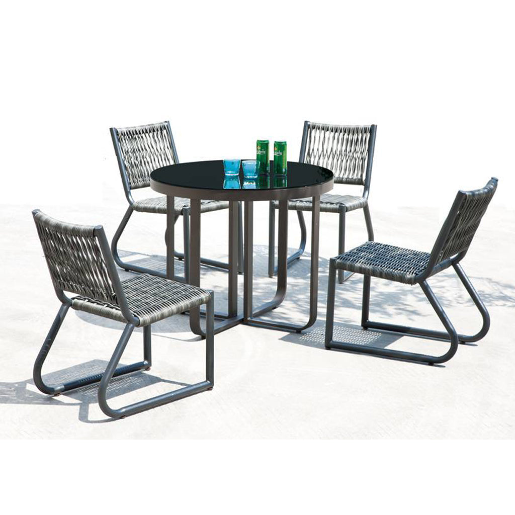 Haiti Dining Set For 4 With Armless Chair