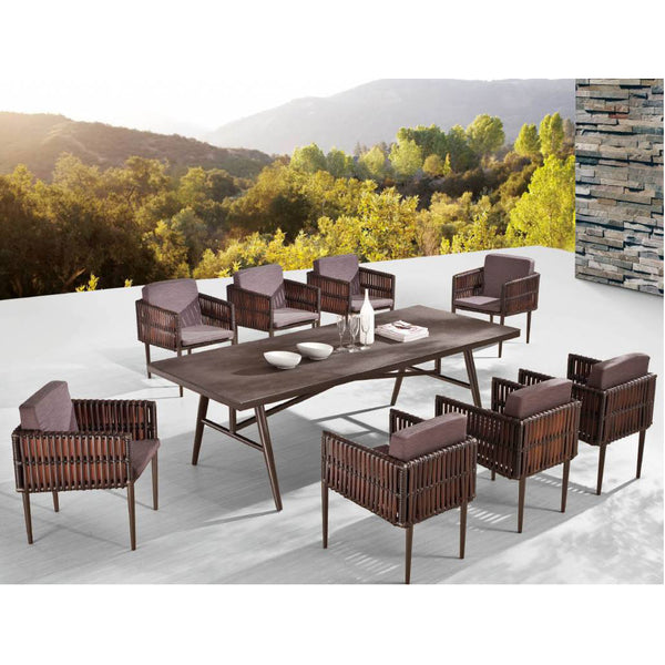 Kitaibela Dining Set For 8 With Side Weaves