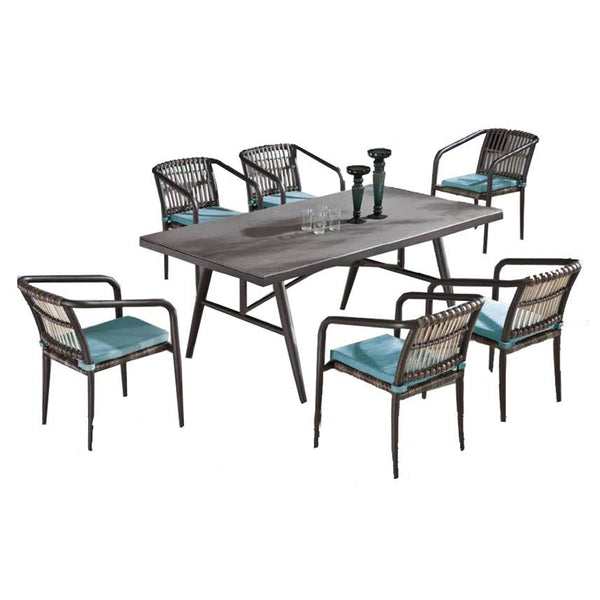 Kitaibela Dining Set For 6 With Trolley