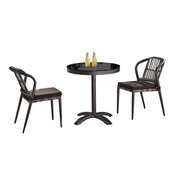 Kitaibela Armless Dining Set For 2