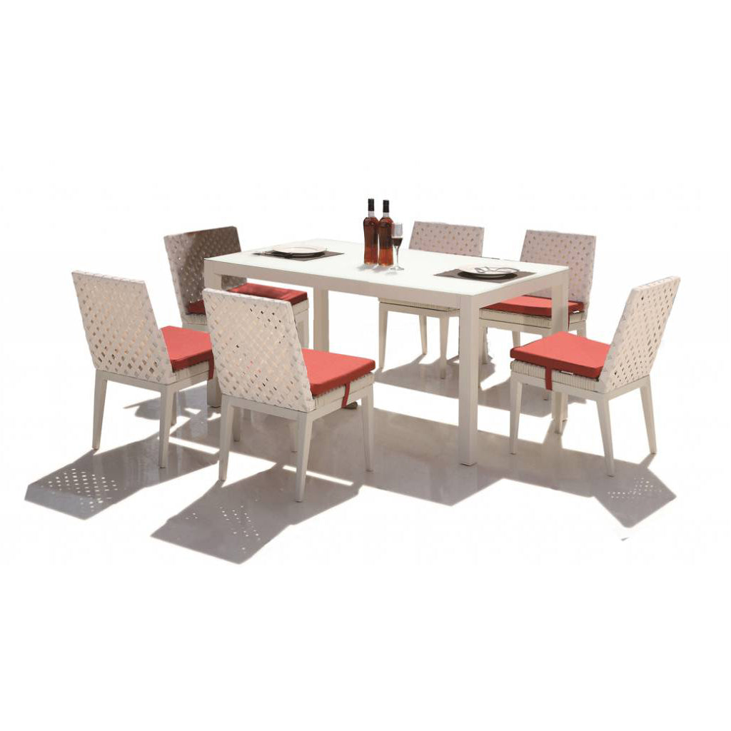 Florence Dining Set With Armless Chairs