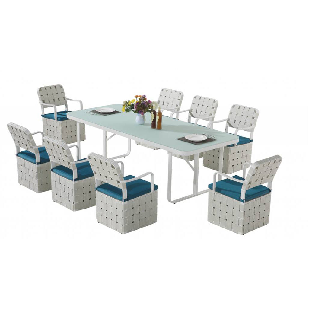 Edge Dining Set For 8