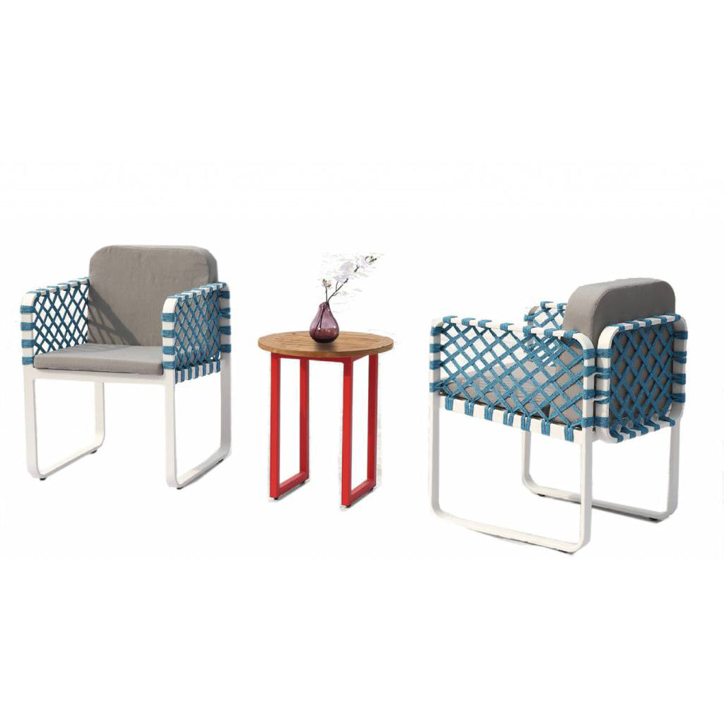 Dresdon Seating Set For 2 With Round Side Table