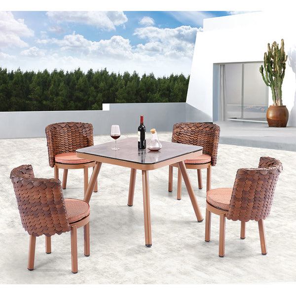 Manis Dining Set For Four With Square Table