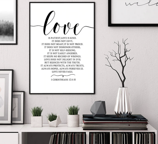 Scandinavian Style Love Poster Black and White Posters Canvas Painting Wall Decor