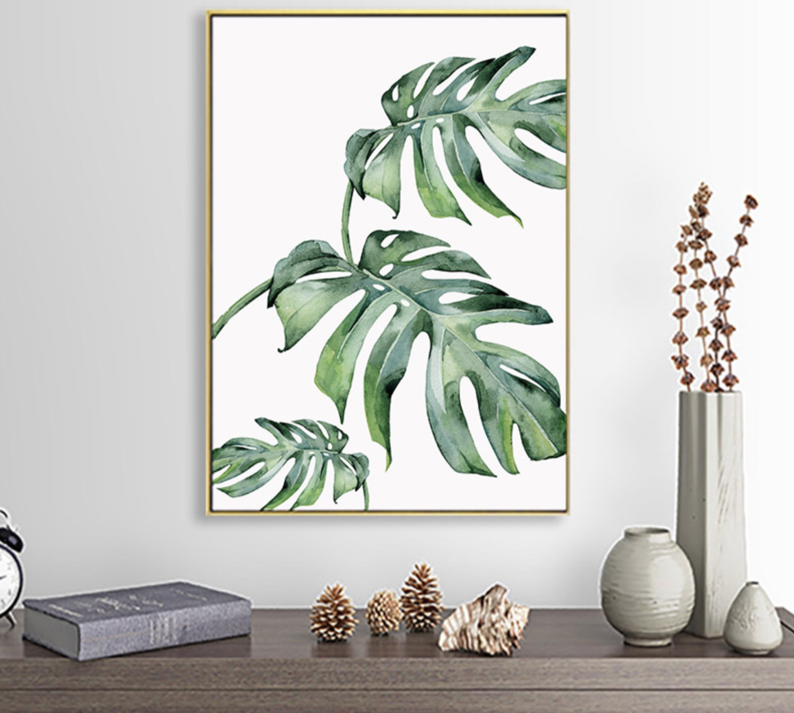 Scandinavian Style Tropical Plants Poster Canvas Painting Wall Decor
