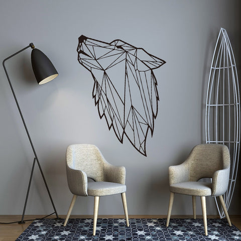 Wolf Art Geometric Wall Sticker For Home Decor