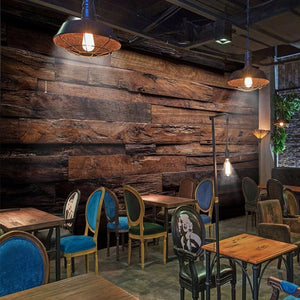 Retro Wood Panels 3D Wallpaper