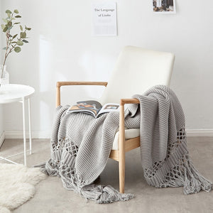 Open image in slideshow, Hand-knitted Blanket