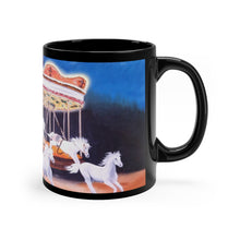 "Load image into Gallery viewer, Carousel Horses Art Gift Mug 11oz- ""Escape from the Carousel"""