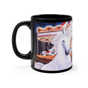 "Carousel Horses Art Gift Mug 11oz- ""Escape from the Carousel"""