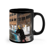 "Load image into Gallery viewer, Rainy NYC Street Artwork Mug 11oz - ""Intersection"""