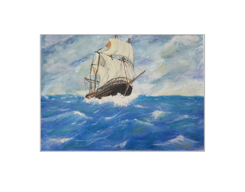 Schooner on the High Seas - Print