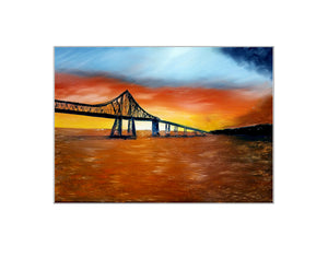 Sunset on the River - Print