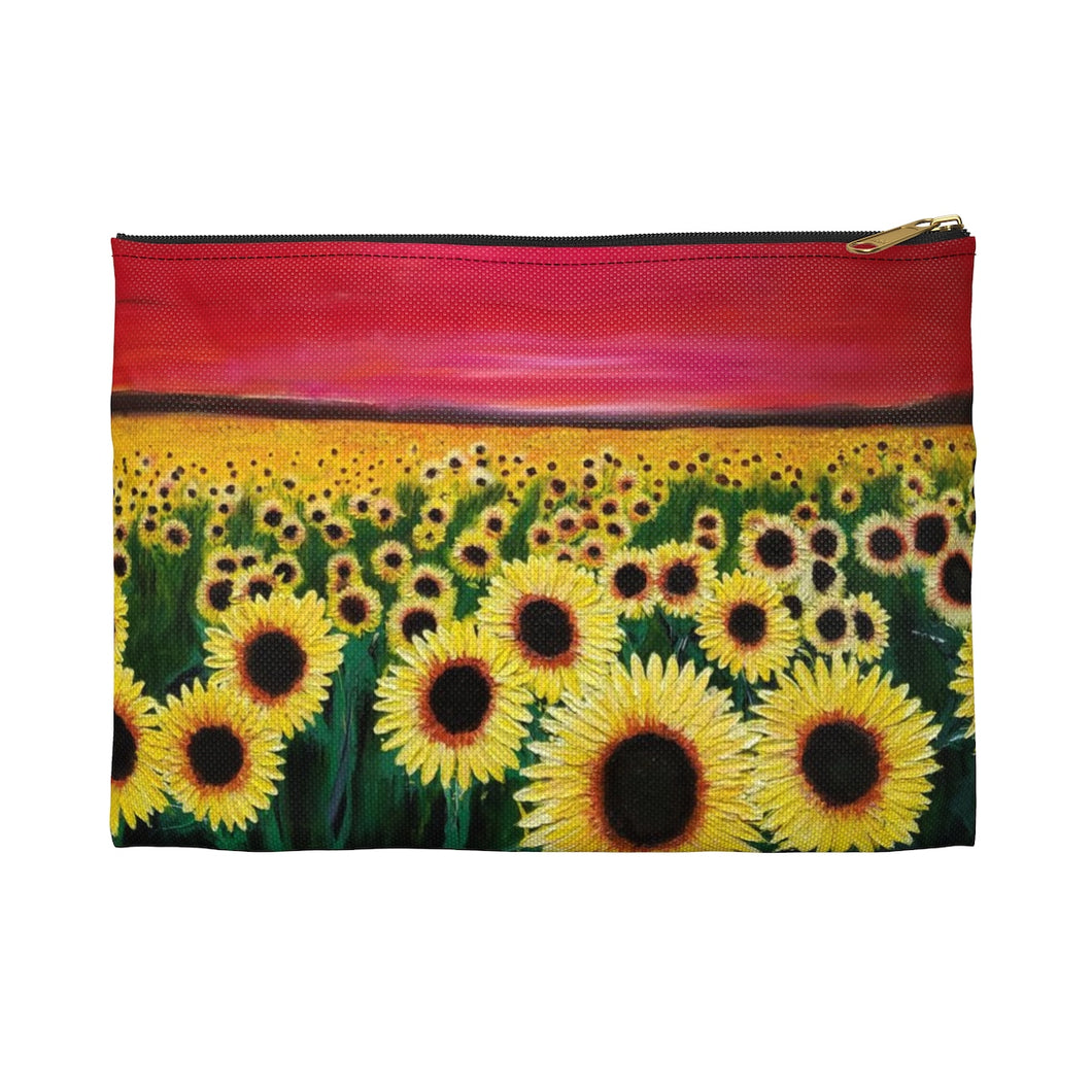 Sunflowers Accessory Pouch