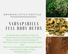Load image into Gallery viewer, SARSAPARILLA FULL BODY DETOX PROGRAM