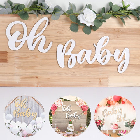 "Baby Shower ""Oh Baby"" Wooden Wall Decor"