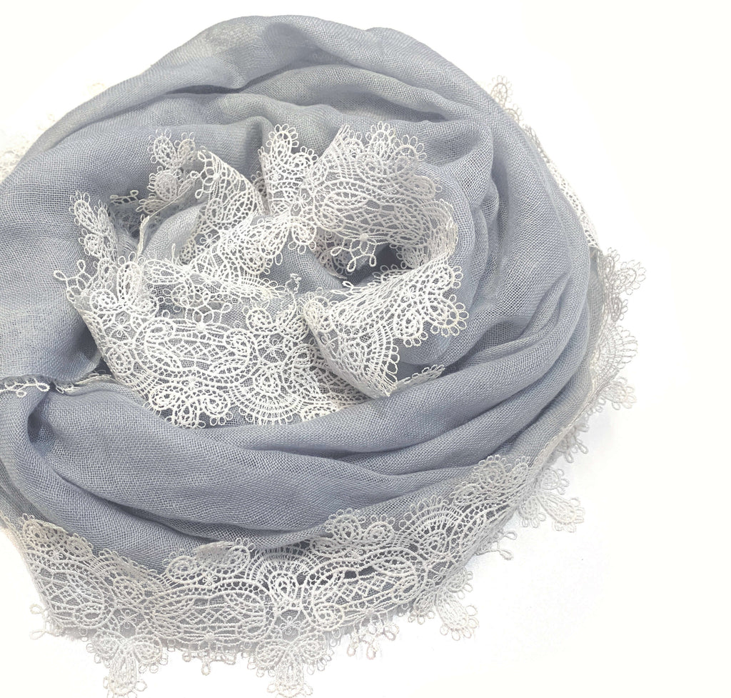 Victorian Lace Cashmere Scarf