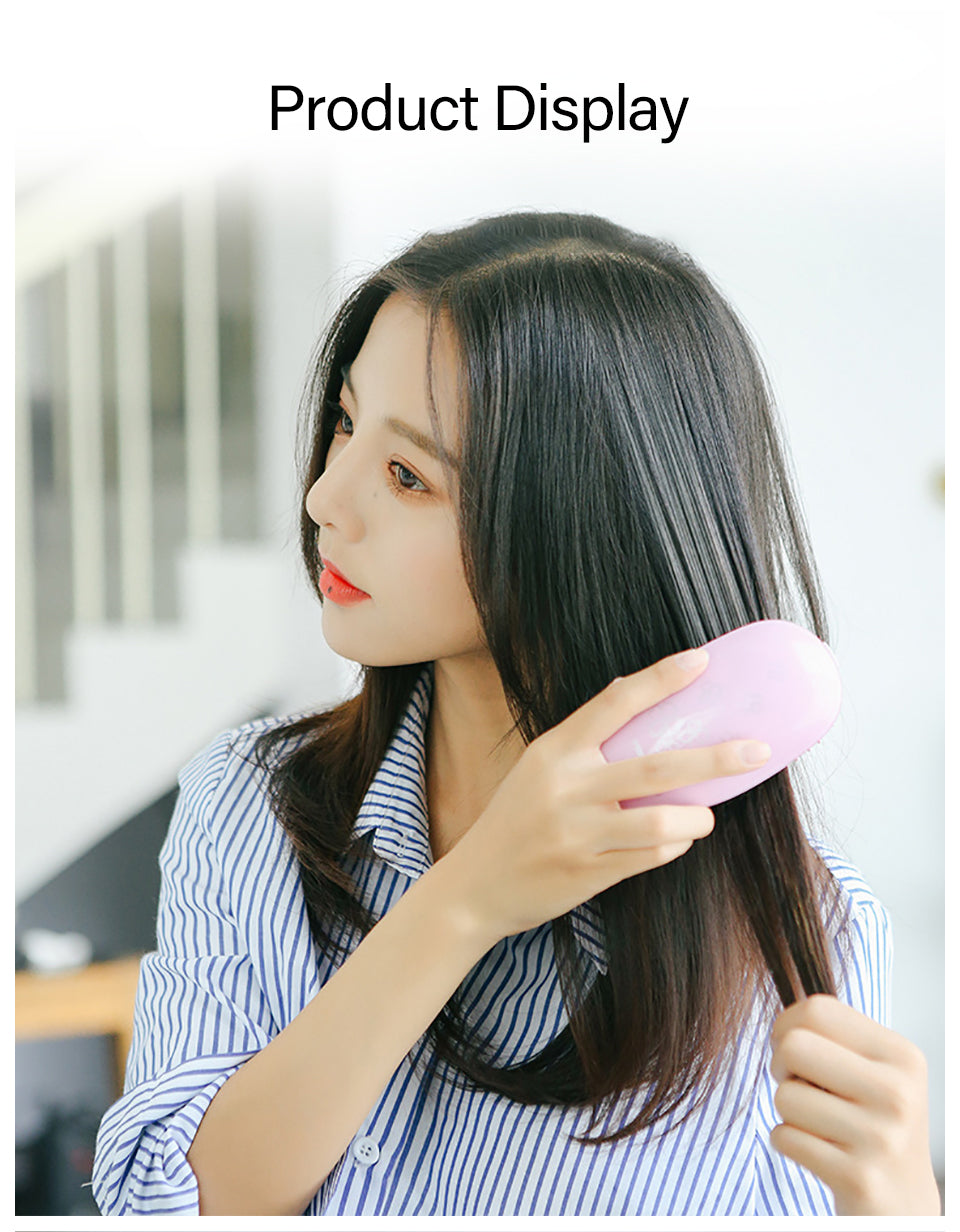 Negative Ion Electric Straightening Hair Brush
