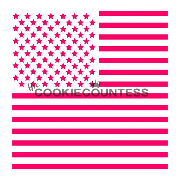 2 Piece Flag Cookie Stencil/Independence Day/4th of July Holiday by Cookie Countess
