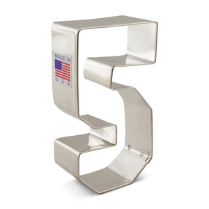 Number 5 Five Cookie Cutter 3""