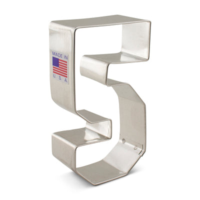 Number 5 Five Cookie Cutter 3