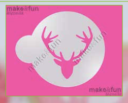 Deer Cake Stencil Cookie Stencil Craft Stencil by Make and Fun