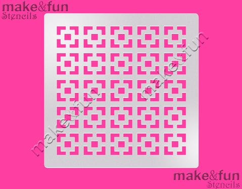 Abstract Pattern Cake Stencil, Cookie Stencil, Craft Stencil by Make and Fun