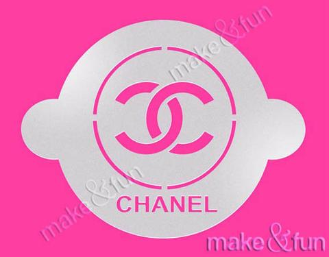 Fashion Designer CC Round Cake Stencil Craft Stencil by Make and Fun