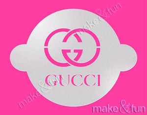 Fashion Designer GG Round Cake Stencil Craft Stencil by Make and Fun