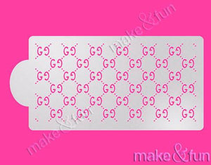 Fashion Designer GG Cake Stencil Cookie Stencil Craft Stencil by Make and Fun