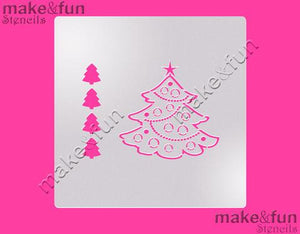 PYO Christmas Tree Cake Stencil, Cookie Stencil, Craft Stencil by Make and Fun