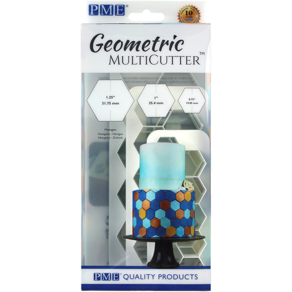 Geometric MultiCutter - Hexagon Set of 3 by PME