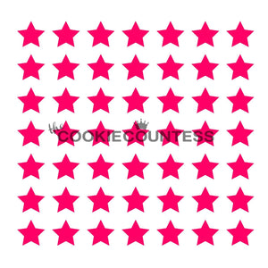Stars Cookie Stencil/Independence Day Cookie Stencil/4th of July Holiday Stencil by Cookie Countess