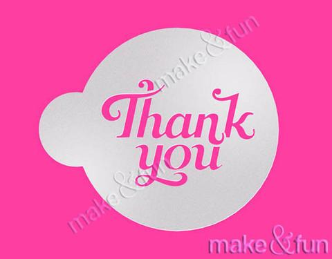 Thank You Cake Stencil Cookie Stencil Craft Stencil by Make and Fun