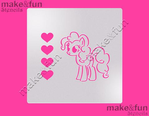 PYO Mini Pony Cake Stencil, Cookie Stencil, Craft Stencil by Make and Fun