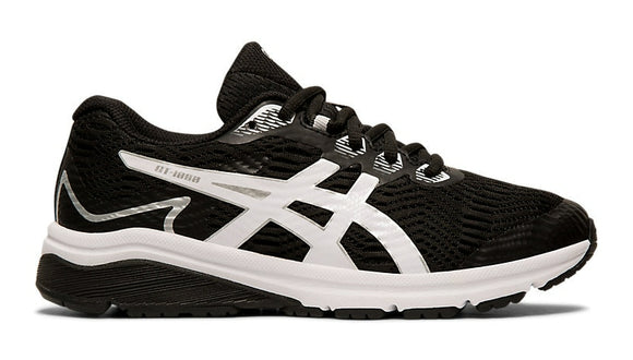 Asics GT-1000 8 GS Junior Running Shoe Black/White