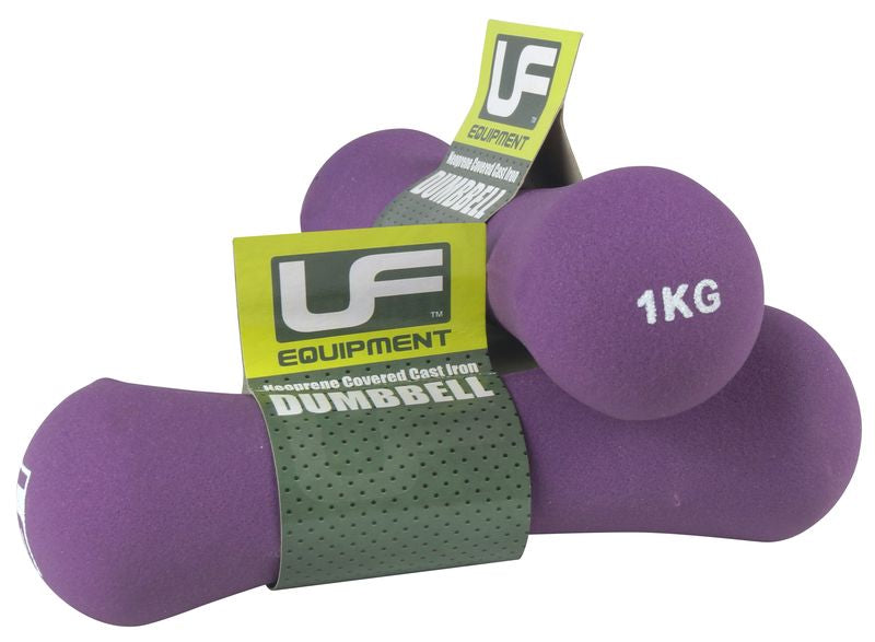 Urban Fitness Bone Dumbbells Neoprene Covered 1KG Pair
