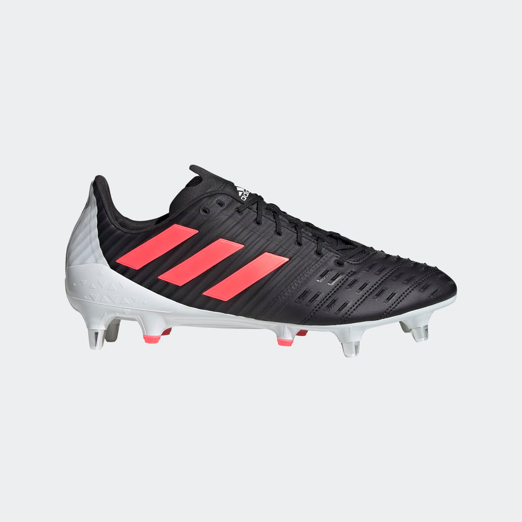 Adidas Predator Malice Control Adult Rugby Boots Black/Pink