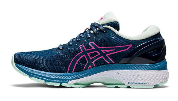 Asics Gel-Kayano 27 Ladies Running Shoe Mako Blue/Hot Pink