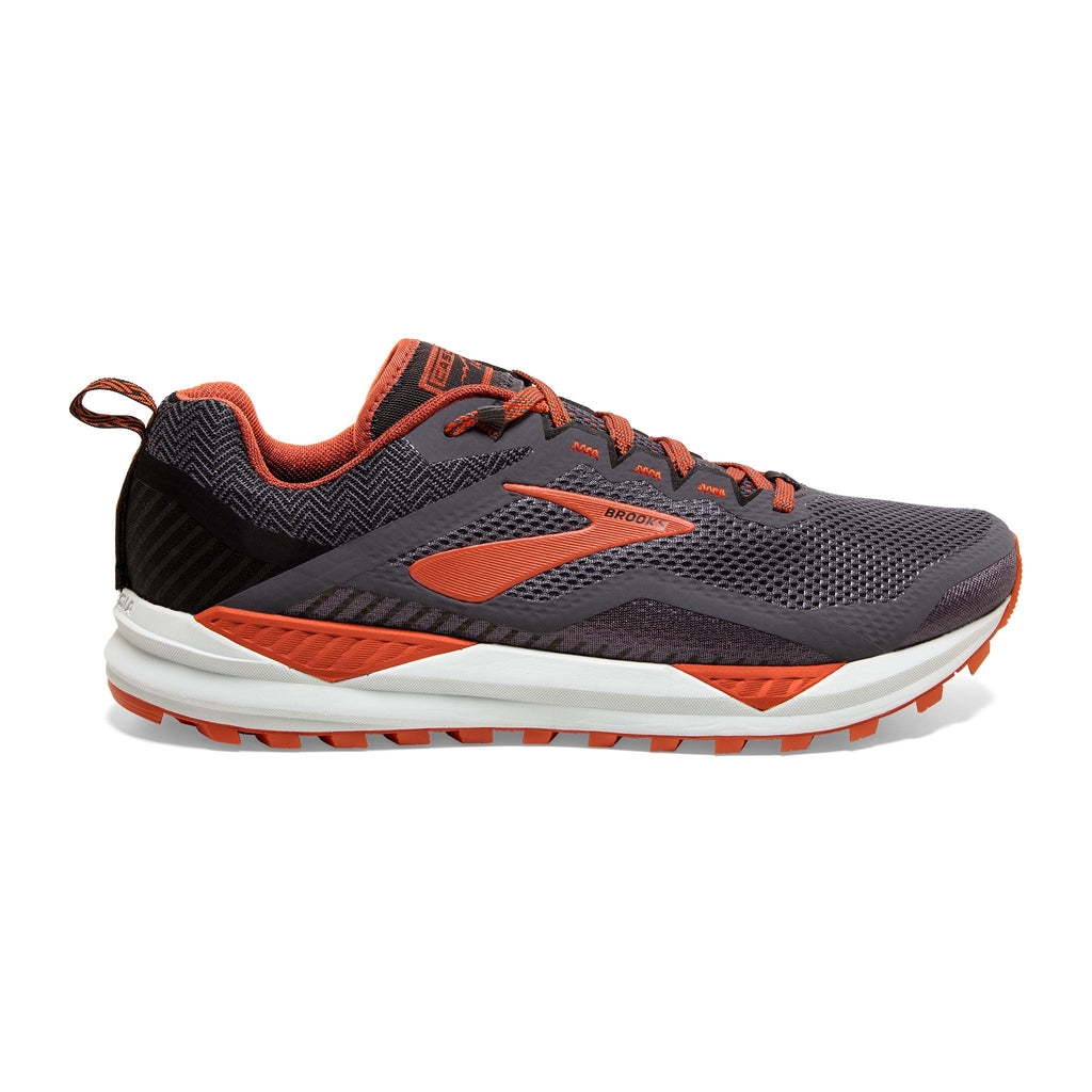 Brooks Cascadia 14 Mens Grey/Burnt Ochre