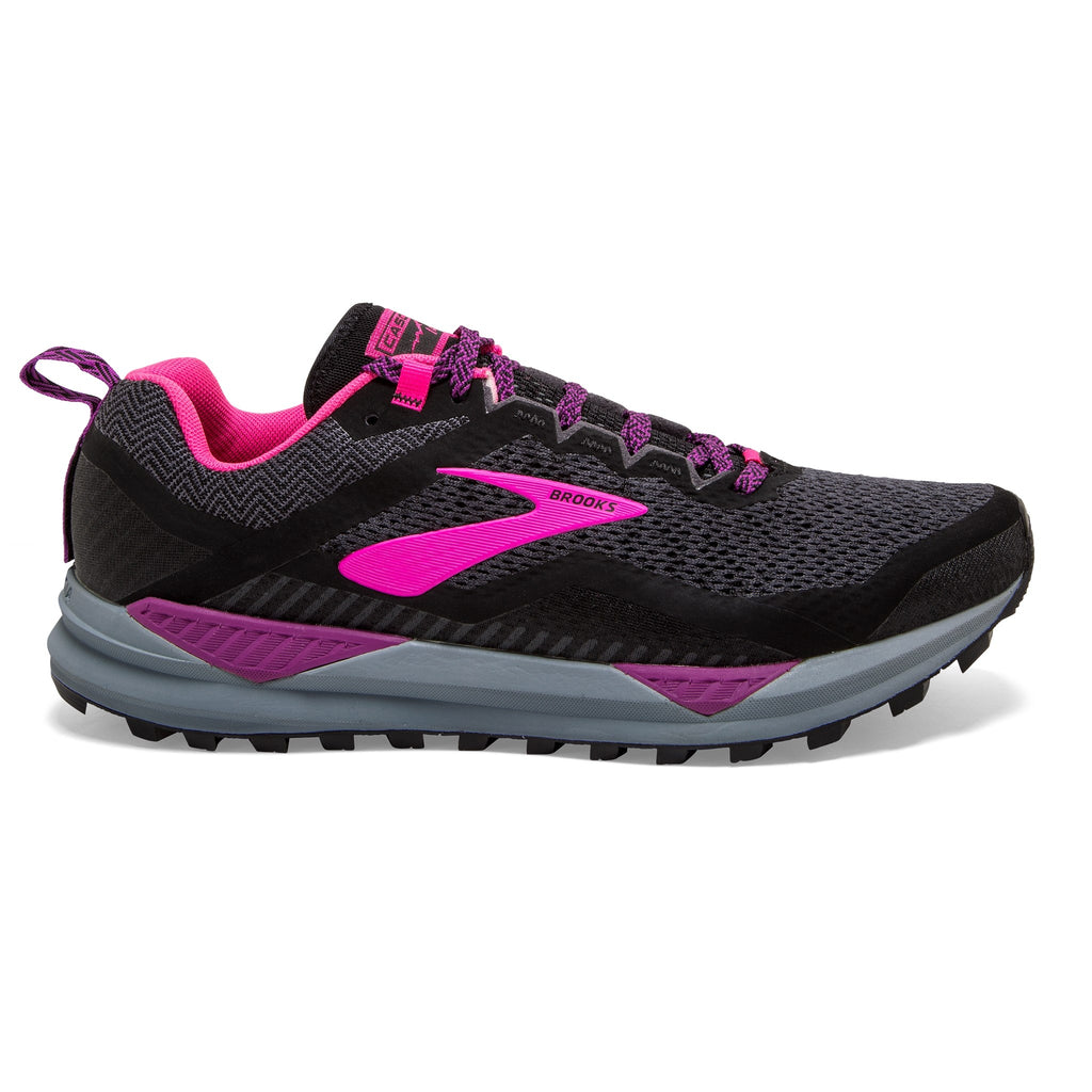 Brooks Cascadia 14 Womens Black/Pink