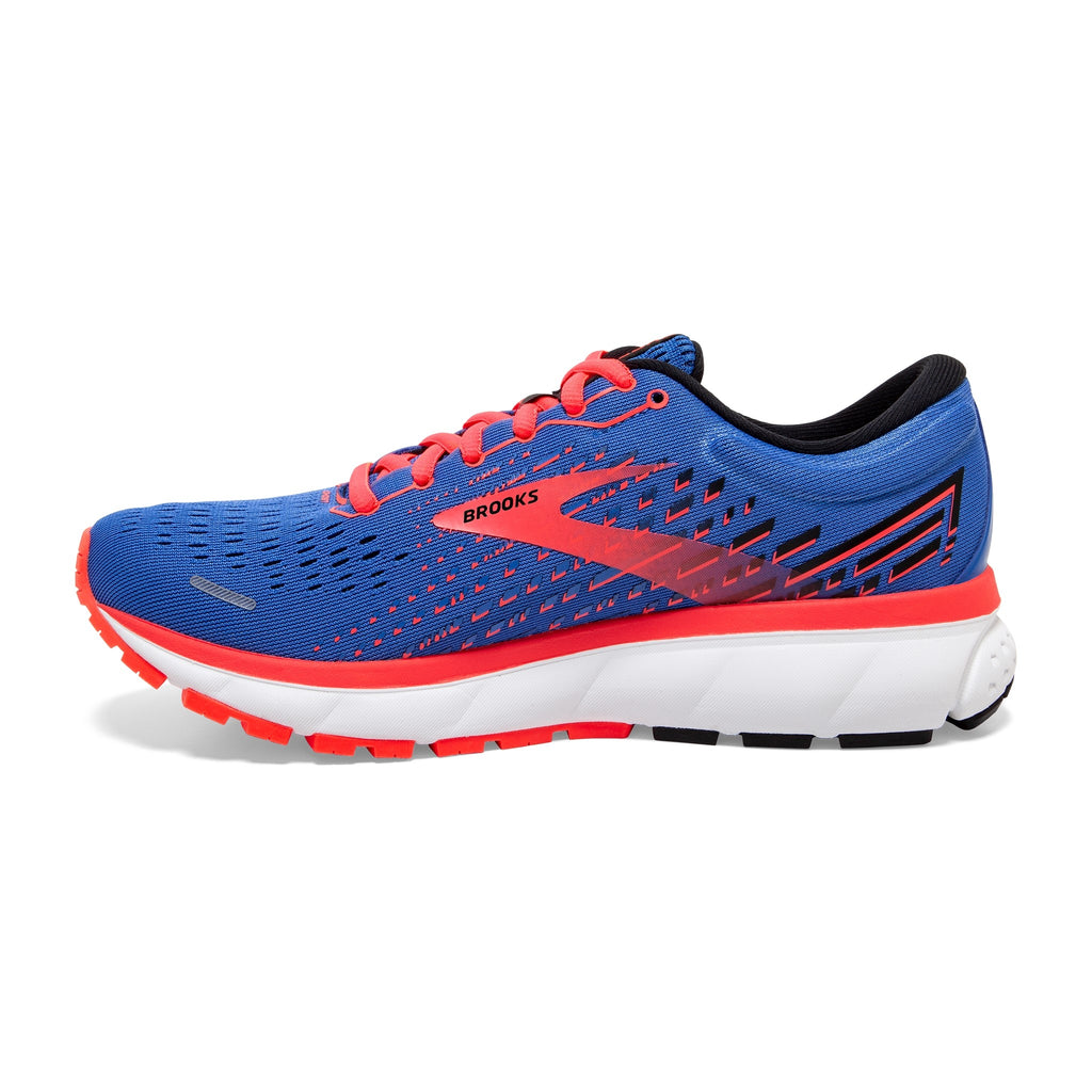 Brooks Ghost 13 Ladies Running Shoe Blue/Coral