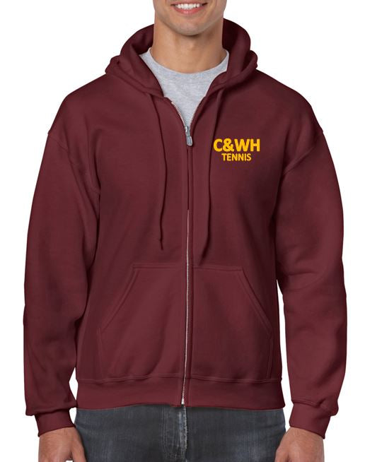 C&WH Tennis Mens Full Zip Hoody